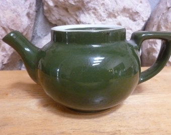 Shenango China green teapot