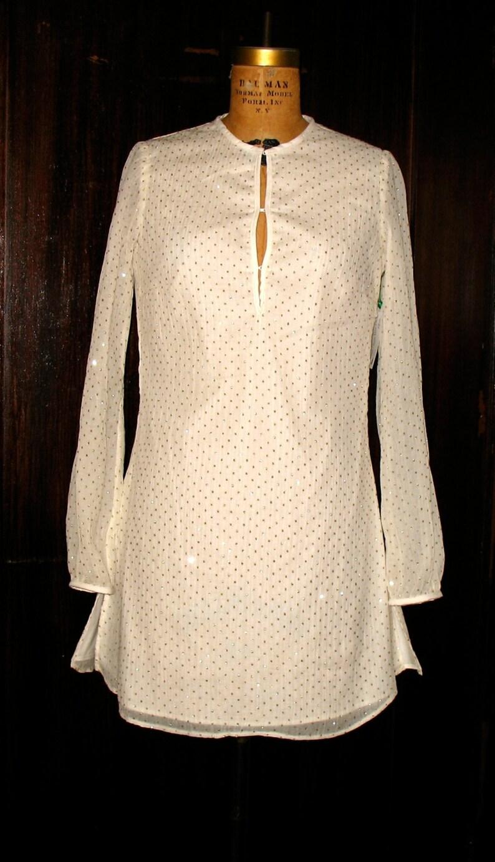 Tunika-Kleid weiß und Gold Tunika Gold gepunktet Tunika | Etsy