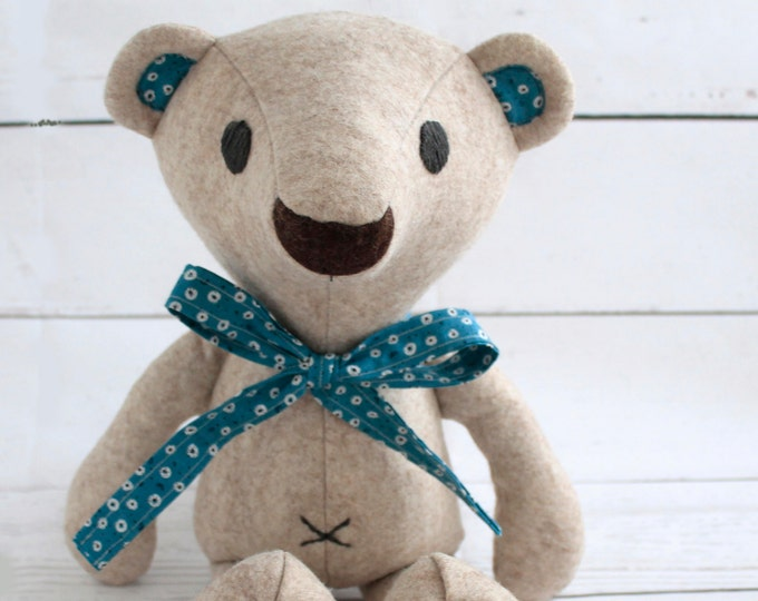 "Plushie pattern teddy bear,  18"" teddy bear. memory bear pattern, sew your own soft toy Bear, instant download pdf pattern"