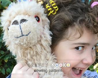 Llama sewing pattern, stuffed animal pattern instant download pdf sewing pattern