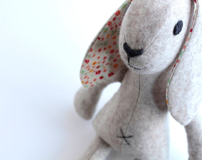 Rabbit sewing pattern pdf for instant download, bunny rabbit diy tutorial