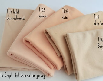 fb84e732cd4 Doll skin fabric, jersey skin fabric by DeWitte Engel, 100% cotton , sold  by 1/2 metre