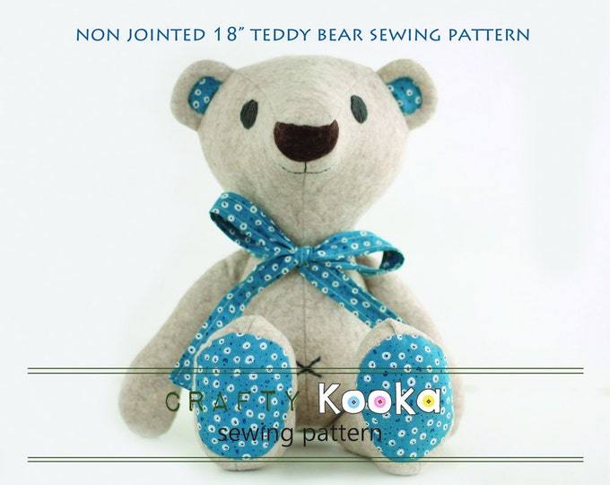 Teddy bear pdf pattern tutorial for instant download