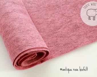 Wool felt roll, Pink color wool felt roll, felt by the yard, gorgeous wool felt made from biofelt and coloured