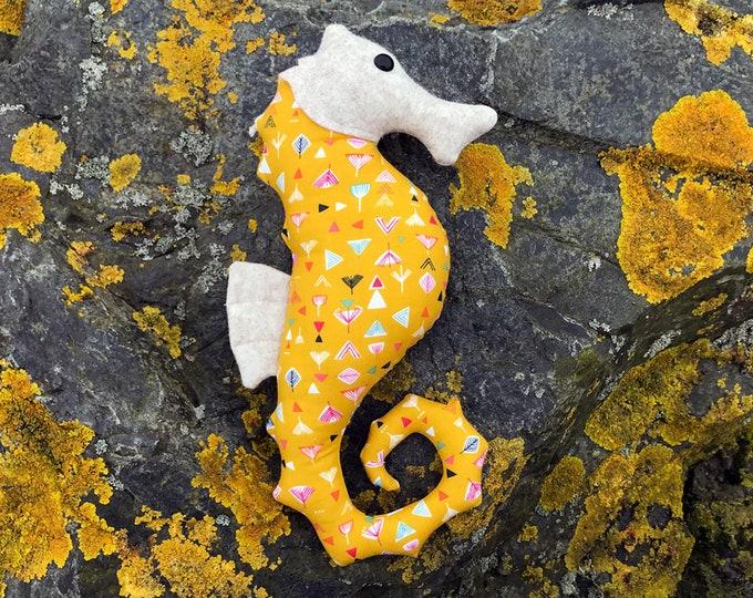 Seahorse sewing pattern, Pin cushion patterns, beginners sewing patterns