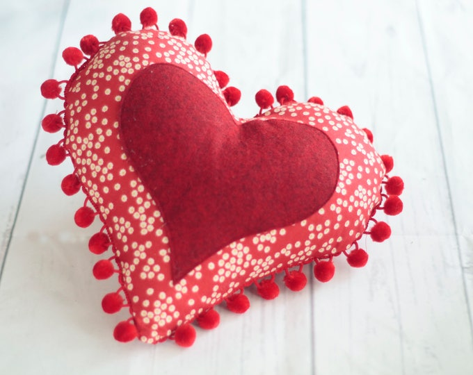 Pin cushion patterns, large pin cushion heart, heart pin cushion, sewing pin cushion pdf pattern, heart cushion - instant download