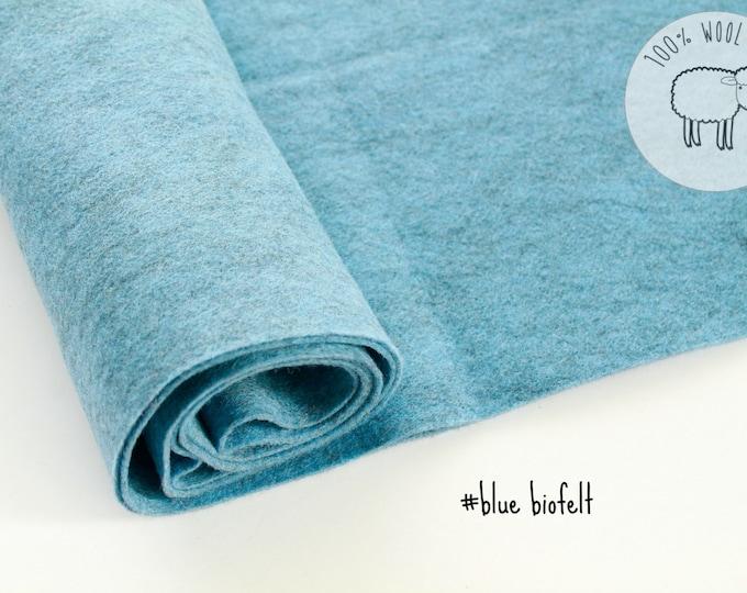 Blue wool felt, 100% wool felt, felt by the yard, 6 colours PATCH FELT, gorgeous wool felt made from biofelt and coloured