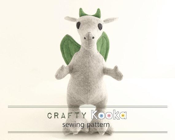 Dragon Sewing Pattern Stuffed Toy Pattern Dragon Pdf Sewing Etsy