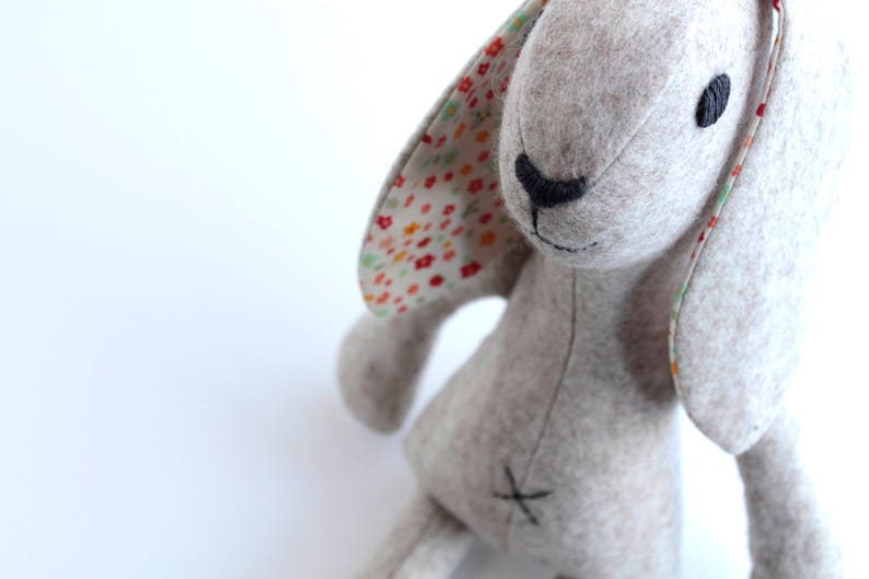 Rabbit sewing pattern pdf for instant download bunny rabbit image 0