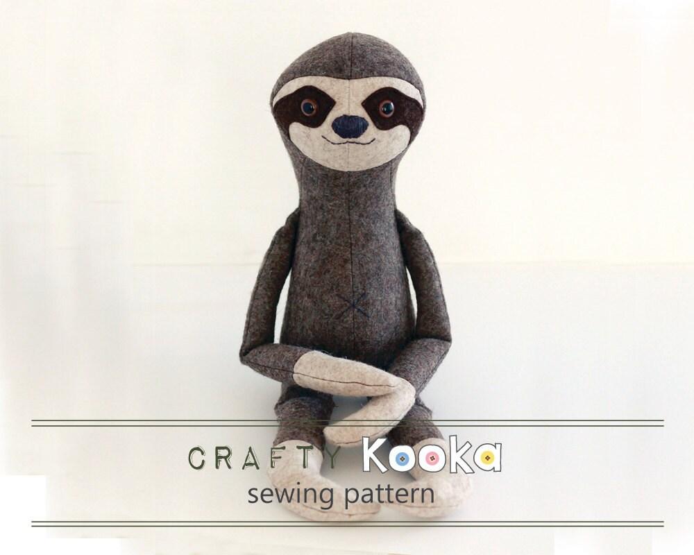 Stuffed animal pattern, toy sewing pattern - soft toy pattern- pdf ...