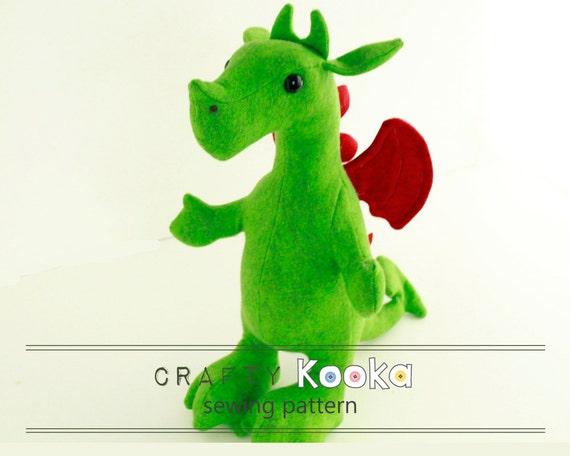 Dragon Sewing Pattern Dragon Plush Sewing Pattern Dragon Etsy