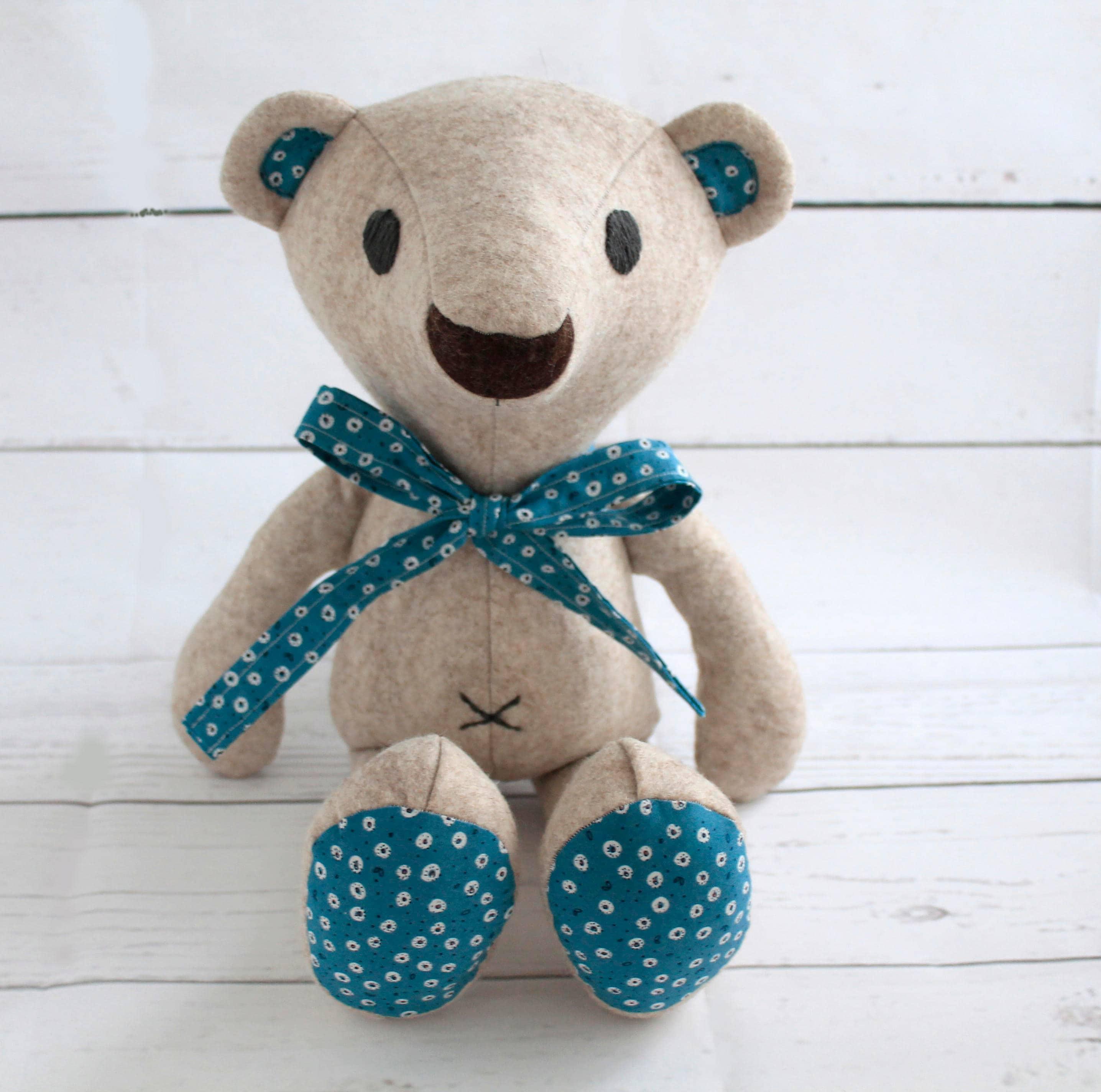 Plushie Pattern Teddy Bear 18 Teddy Bear Memory Bear Pattern Sew