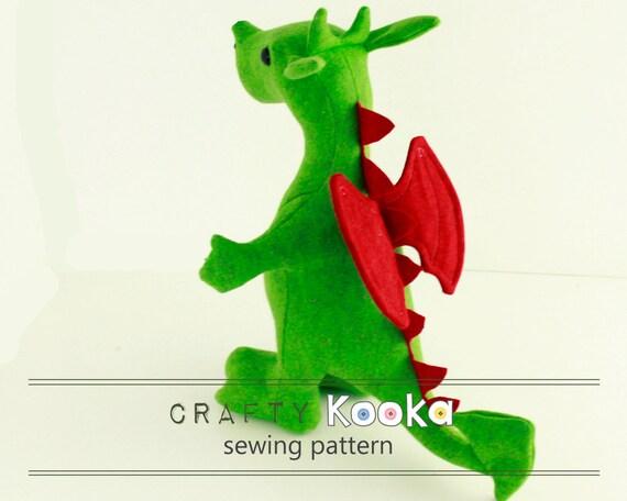 Stuffed Animal Sewing Pattern Dragon Plush Sewing Pattern Etsy