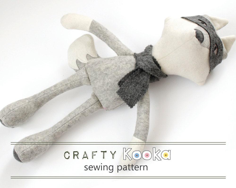 Fox soft toy pattern, PDF stuffed toy pattern, PDF Sewing pattern to ...