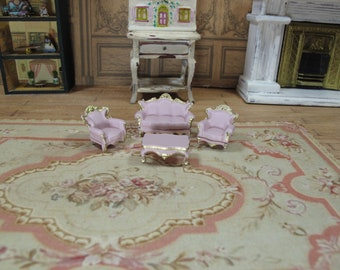 Scale 148 Victorian living room set4 pcs Sofa 2 chairs and ...