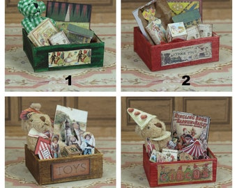 "girl 1:12 dollhouse miniature /""bear/"" theme nursery toiletry box and cream tin"