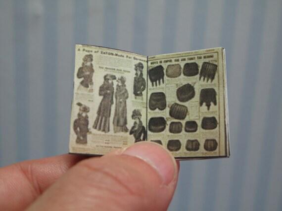 Miniature Openable Catalogue Teaton Magazine Dollhouse In 1 12 Etsy
