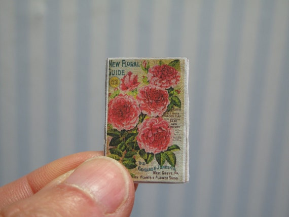 Gael Miniature Openable Vintage Catalogue Garden Magazine Etsy
