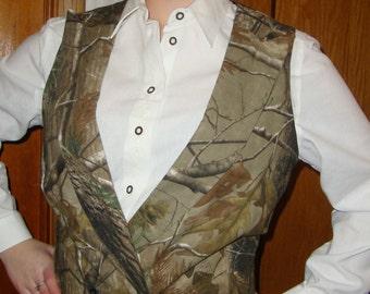 Camouflage Grooms Vest