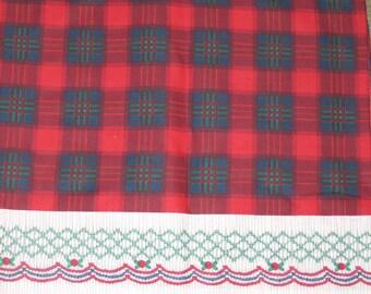 Daisy Kingdom fabric #4095 Plaid Smocking Border 2 yards faux smocking border  printed on each side to create girls dress