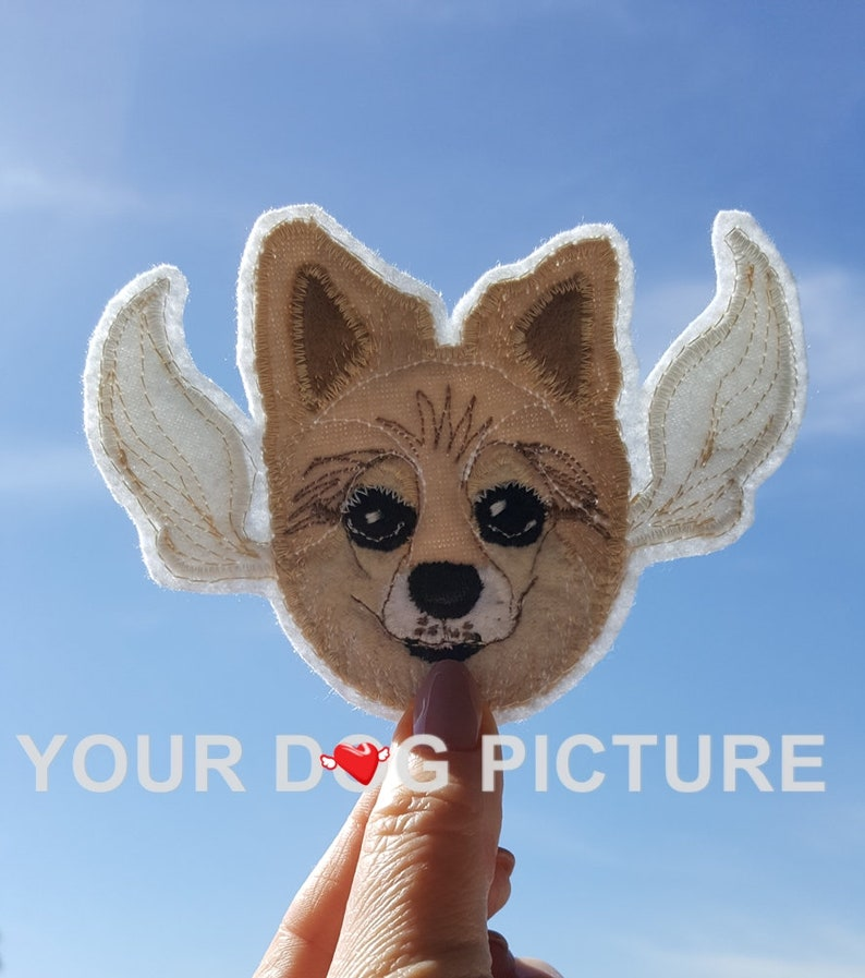 Dog Portrait Patch. Pet Sympathy Gift. Dog Memorial. Dog image 0
