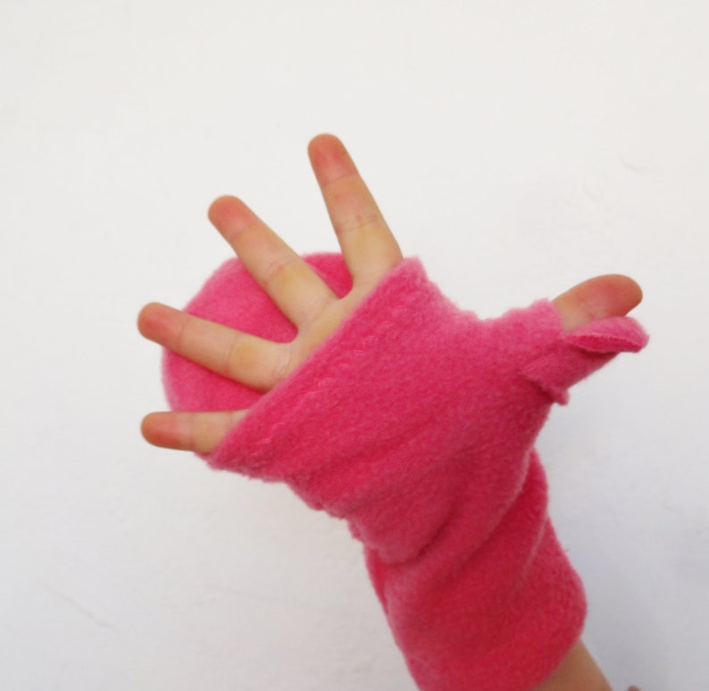 Kids Glittens Convertible Mittens Gloves Choose Your Color image 0