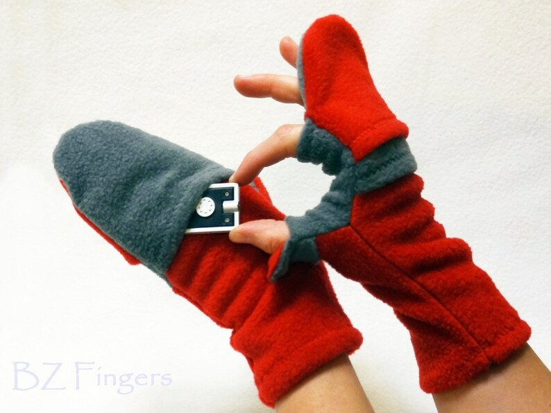 Custom Glittens. Convertible Mittens.  Fingerless Gloves with image 0