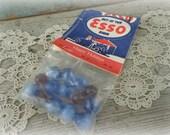 vintage 1940s esso gas station marbles 14 agates rubies original bag unopened