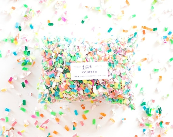 Tropical Confetti - Pink + Blue + Green + Orange + Yellow + White