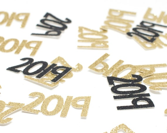 2019 Confetti - New Years Confetti. Graduation Party Decor. New Years Eve Decor. Happy New Year. Grad 2019. Graduation 2019. Senior 2019.