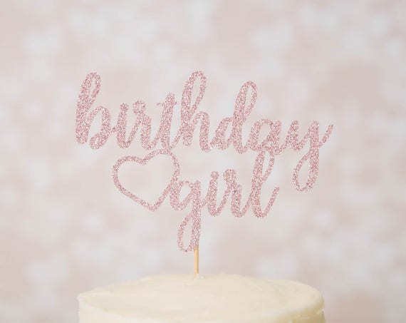 Birthday Girl Cake Topper - Glitter - Smash Cake Topper. First Birthday. Birthday Cake Topper. First Birthday. 1st Birthday. 30th Birthday.