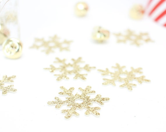 Snowflake Confetti - Glitter - Holiday Confetti. Christmas Confetti. Holiday Party Decor. Christmas Party Decor. Table Scatter.