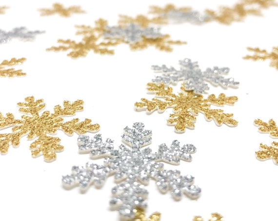 Snowflake Confetti - Glitter - Christmas Confetti. Holiday Party Confetti. Party Decor. Table Scatter. Mini Snowflake Confetti.