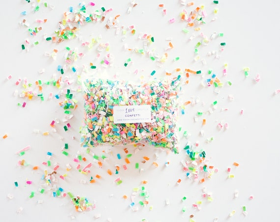 Tropical Confetti - Pink/Blue/Green/Orange/Yellow/White -- Tossing Confetti - Table Scatter - Piñata Filler - Basket Fill - Confetti Toss
