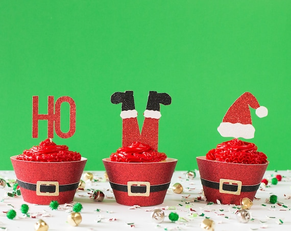 Christmas Cupcake Topper Set