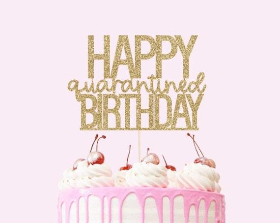 Happy Birthday Cake Topper - Glitter Cardstock - Birthday Cake Sign. Smash Cake Topper. Birthday Cake Topper.
