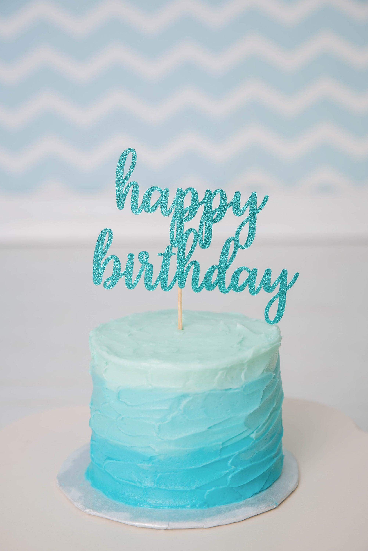 Happy Birthday Cake Topper Glitter Birthday Smash Cake Topper