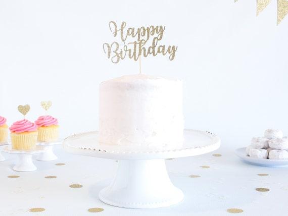 Magnificent Happy Birthday Cake Topper Glitter Cardstock Birthday Smash Birthday Cards Printable Inklcafe Filternl