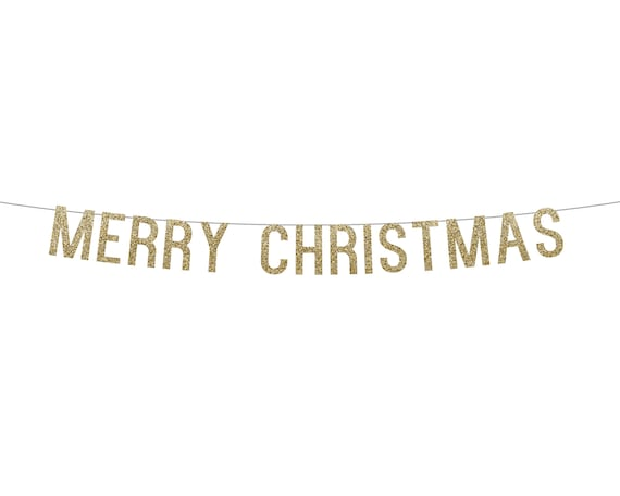 MERRY CHRISTMAS - Glitter Banner - Holiday Party Decorations. Dorm Wall Decor. Quarantine Christmas. Christmas Glitter Sign. Holiday Decor.