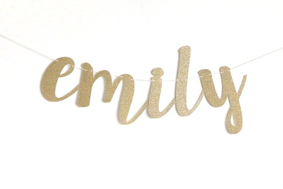 Custom Cursive Name Banner - Script Banner - Bridal Shower - Engagement - Bachelorette Party - Birthday Party Decorations. Cursive Banner.