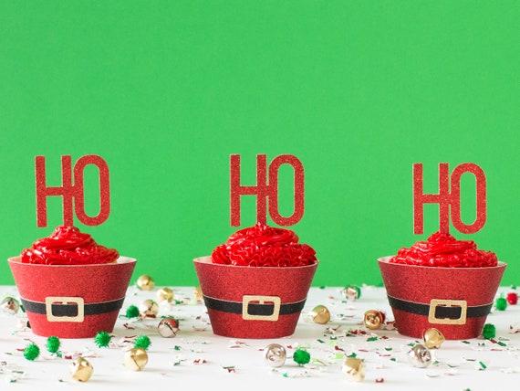Ho Ho Ho - Christmas Cupcake Toppers