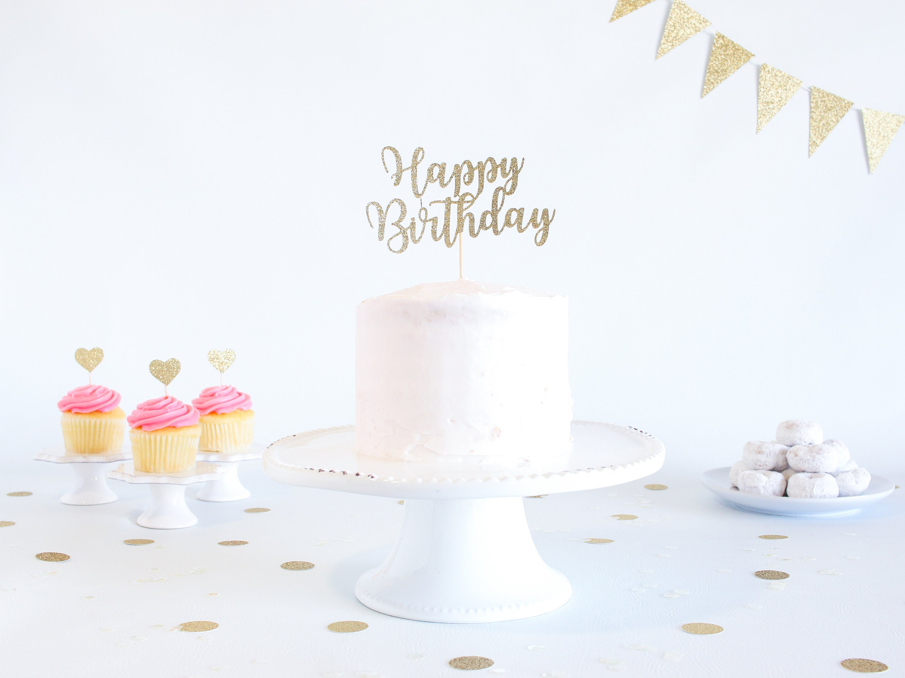 Pleasing Happy Birthday Cake Topper Glitter Cardstock Birthday Smash Personalised Birthday Cards Veneteletsinfo
