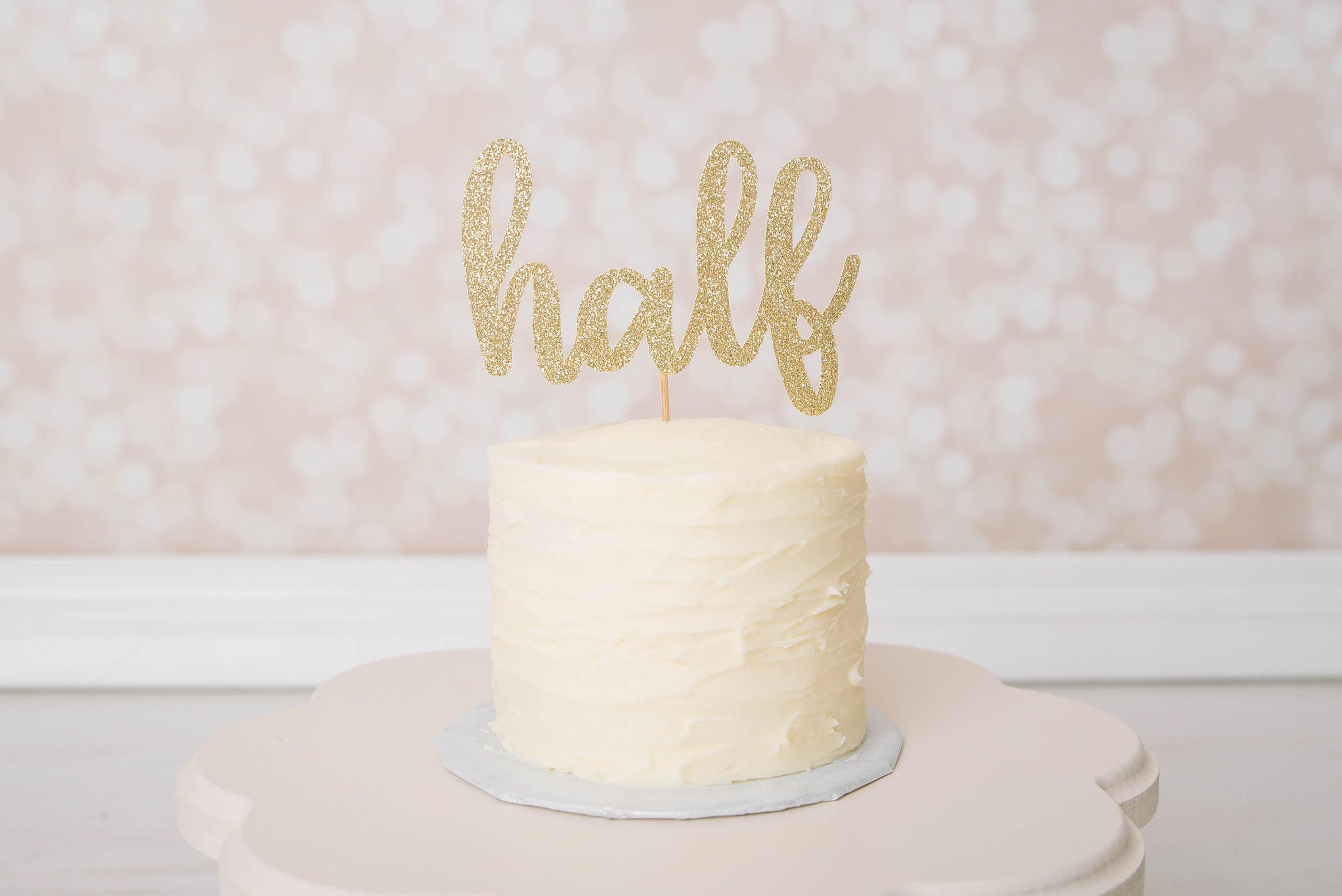 Half Cake Topper