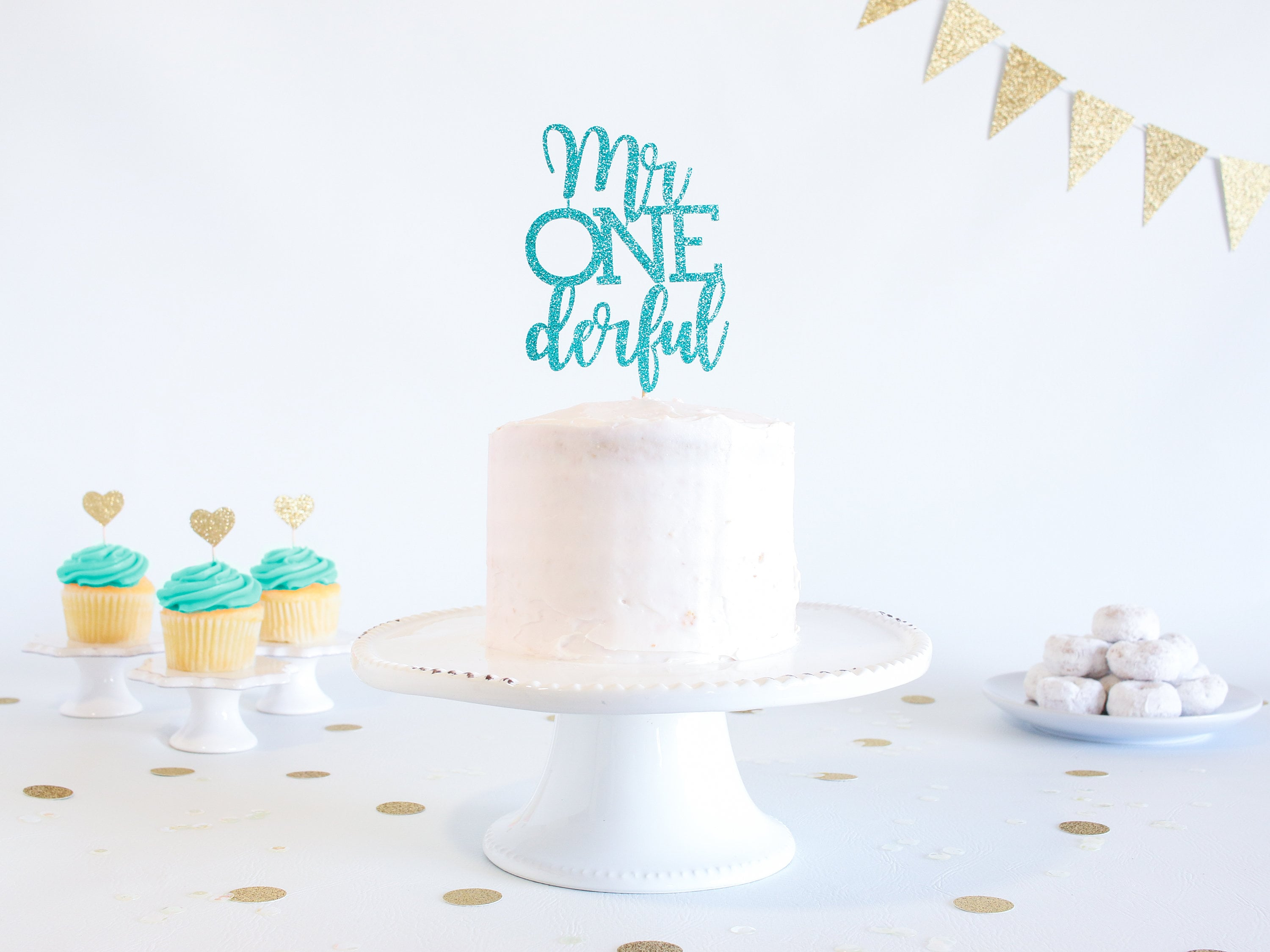 Sensational Mr Onederful Cake Topper Glitter 1St Birthday Smash Cake Funny Birthday Cards Online Alyptdamsfinfo