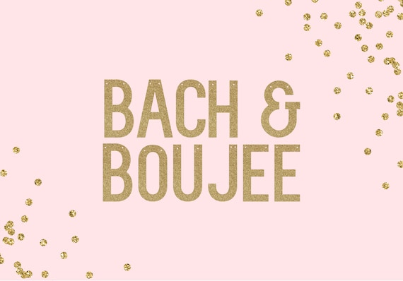 BACH & BOUJEE - Glitter Banner - Bachelorette Party. Cheers Bitches. Bachelorette Decorations. Bridal Shower. Last Fling Decorations.