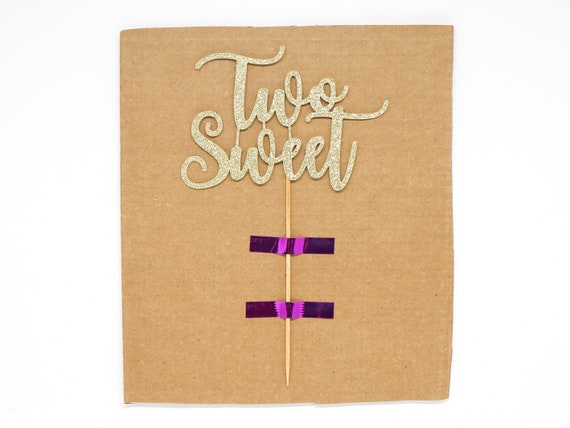 """Two Sweet Cake Topper - Ready To Ship - 5.0"""" width"""