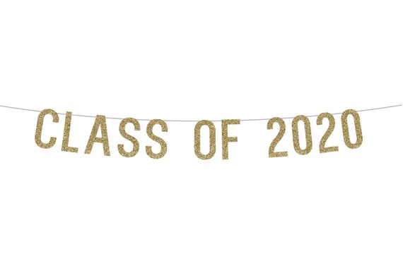 CLASS OF 2020 - Glitter Banner - Graduation 2020. Graduating Class of 2020. Grad Decorations.