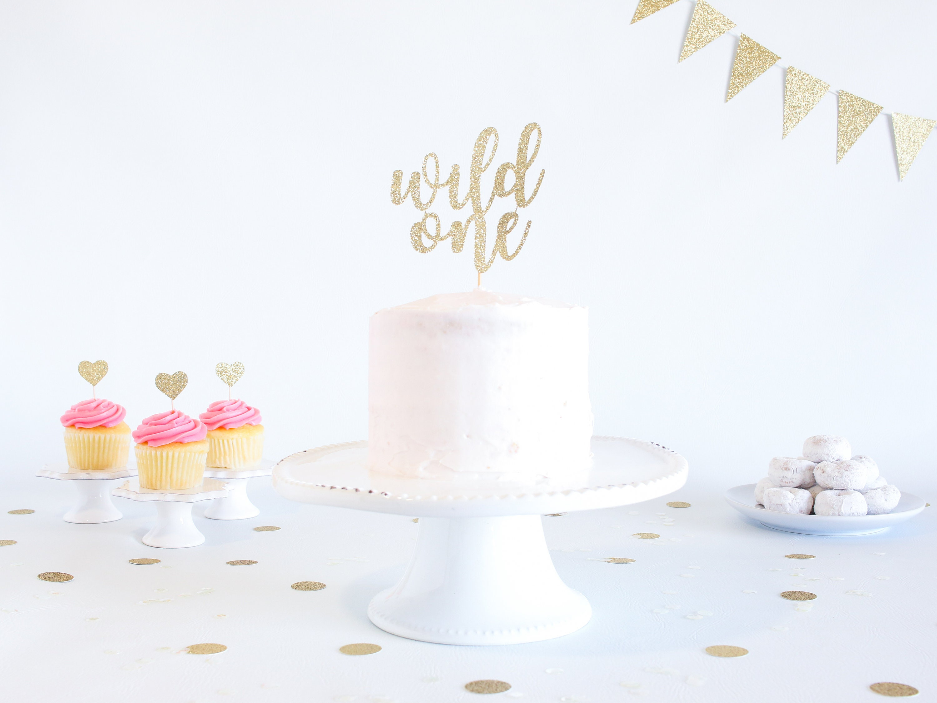 Pleasant Wild One Cake Topper Glitter 1St Birthday Smash Cake Topper Personalised Birthday Cards Veneteletsinfo