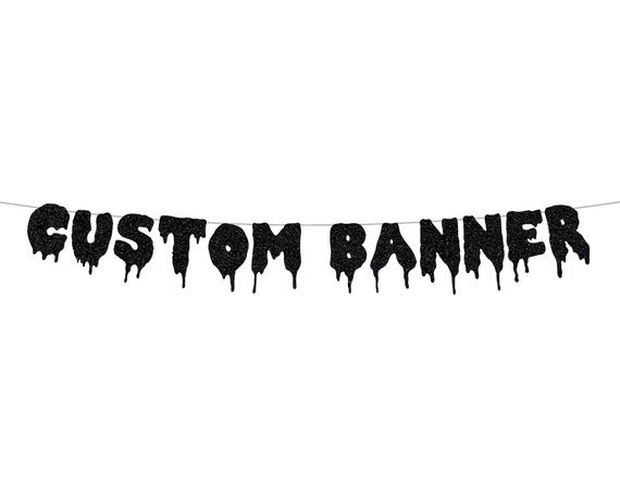 Custom Spooky Banner - Personalized Banner - Halloween - Bachelorette Party - Birthday Decorations. Halloween Party Decor.