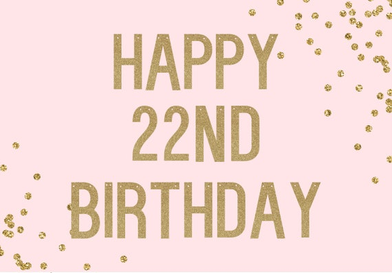 HAPPY BIRTHDAY with age - Glitter Banner - Glitter Sign. Dorm Decor. Birthday Party Decor. 22nd Birthday. 30th Birthday. 50th Birthday.